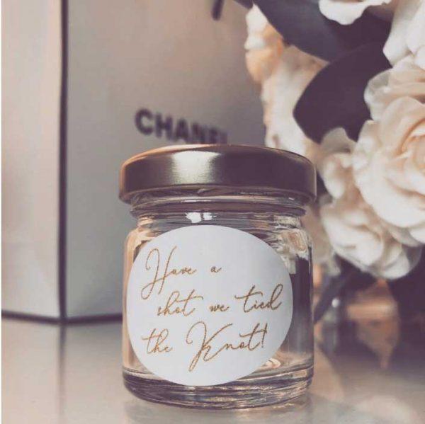 Shot Jar Wedding Favour Gold Lid