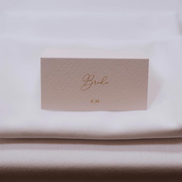Table Place Name for Bride at Wedding Breakfast