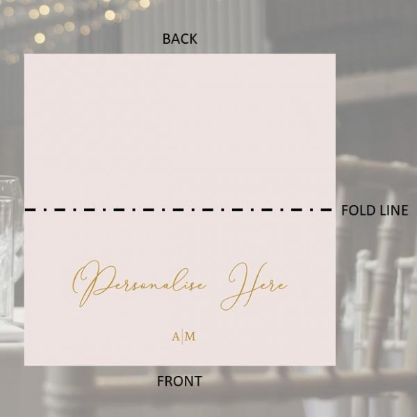 Table Place Name Self Standing Groom