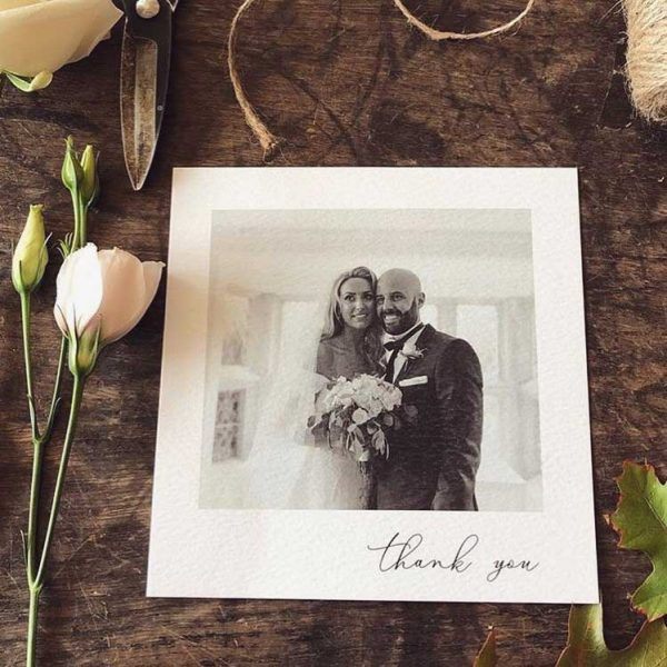 Thank you Wedding Card Bride and Groom